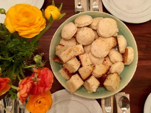 Buttermilk Biscuits and Cornbread