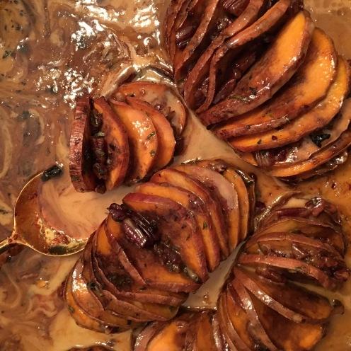Caramelized Sweet Potatoes in Cream Sauce