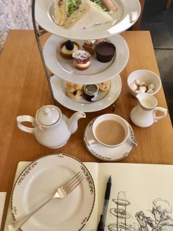 High tea at Cellarium Cafe
