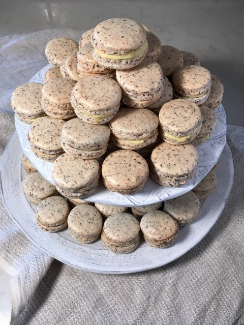 Tiered presentation for Macaron for High Tea