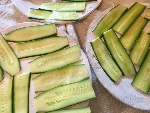 Make sure to slice the cucumber very thin!