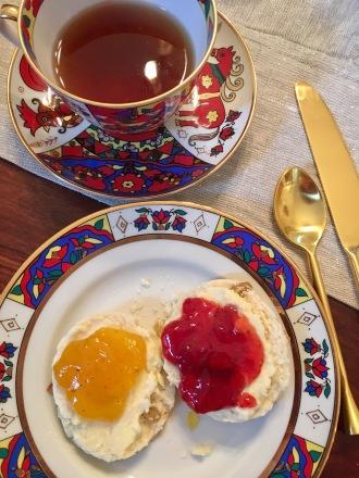 Chez Nous Dinners, Daria Souvorova, High Tea, Scones and Clotted Cream