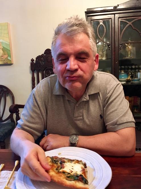 Chez Nous Dinners, Daria Souvorova, Chard, Sausage, and Ricotta Pizza