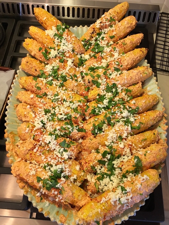 Chez Nous Dinners, Daria Souvorova, Memorial Day Cookout, Mexican Street Corn
