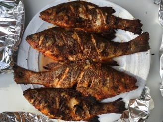 Chez Nous Dinners, Daria Souvorova, Memorial Day Cookout, Grilled Fish