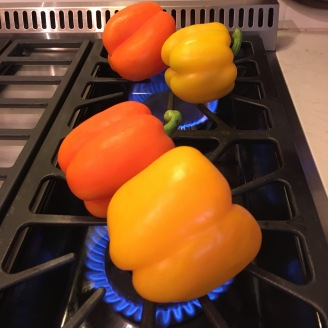Grill over open flame.